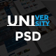 University Educational PSD Template - ThemeForest Item for Sale
