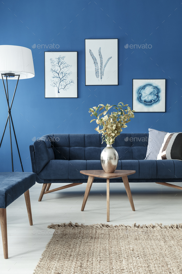 End table and sofa in living room - Stock Photo - Images