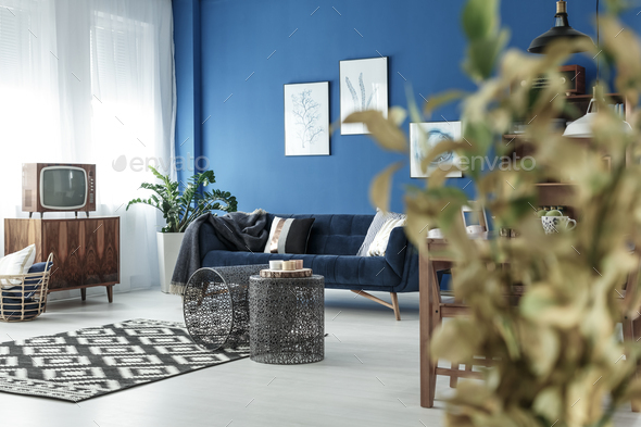 Living room with TV - Stock Photo - Images