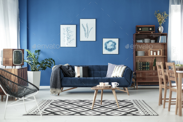 Living room view in apartment - Stock Photo - Images