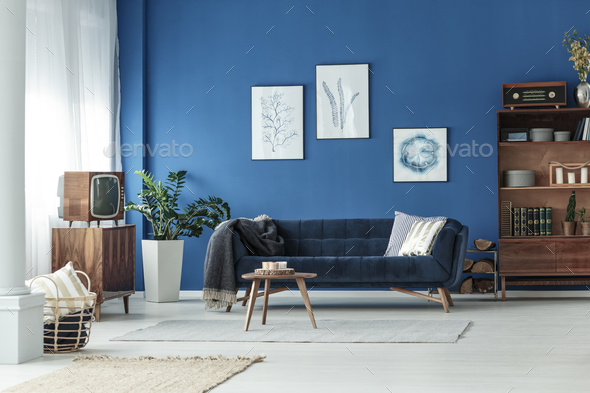 Living room in apartment - Stock Photo - Images