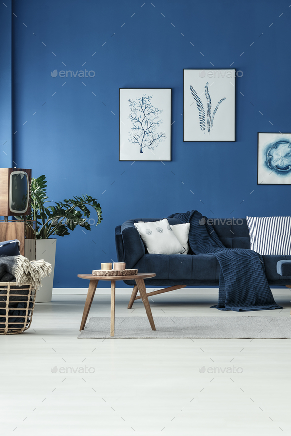 Room with sofa and TV - Stock Photo - Images