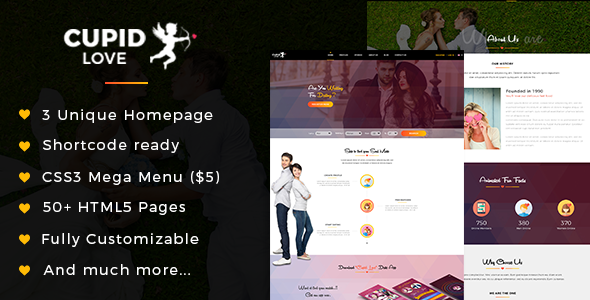 CUPID LOVE - Dating Website HTML5 Template