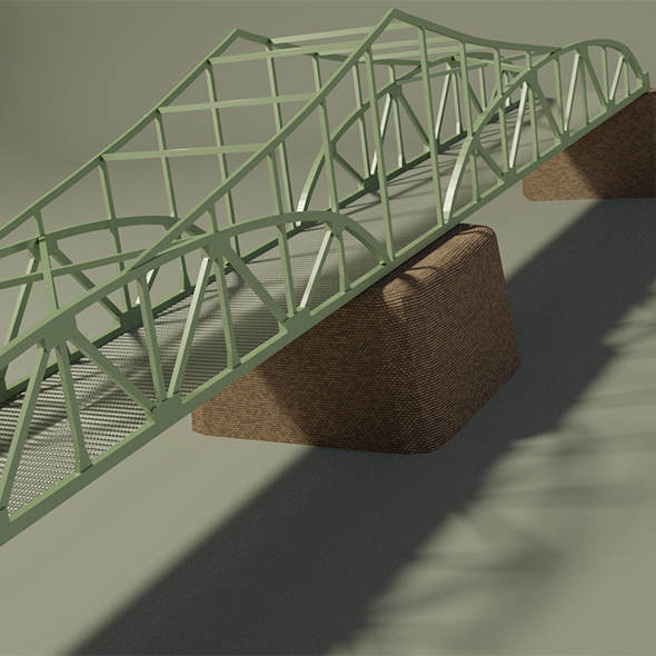 Steel bridge - 3DOcean Item for Sale