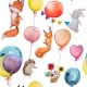 Seamless Pattern with Animals with Balloons - GraphicRiver Item for Sale