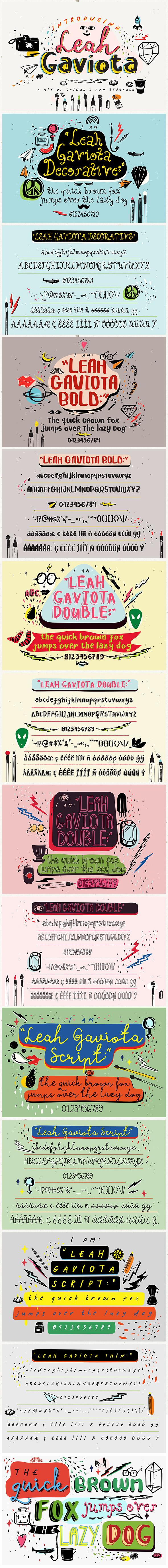 Leah Gaviota - Script Fonts