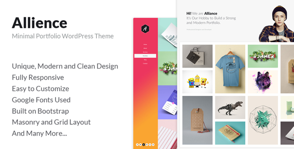 Allience - Minimal Portfolio WordPress Theme. - Portfolio Creative