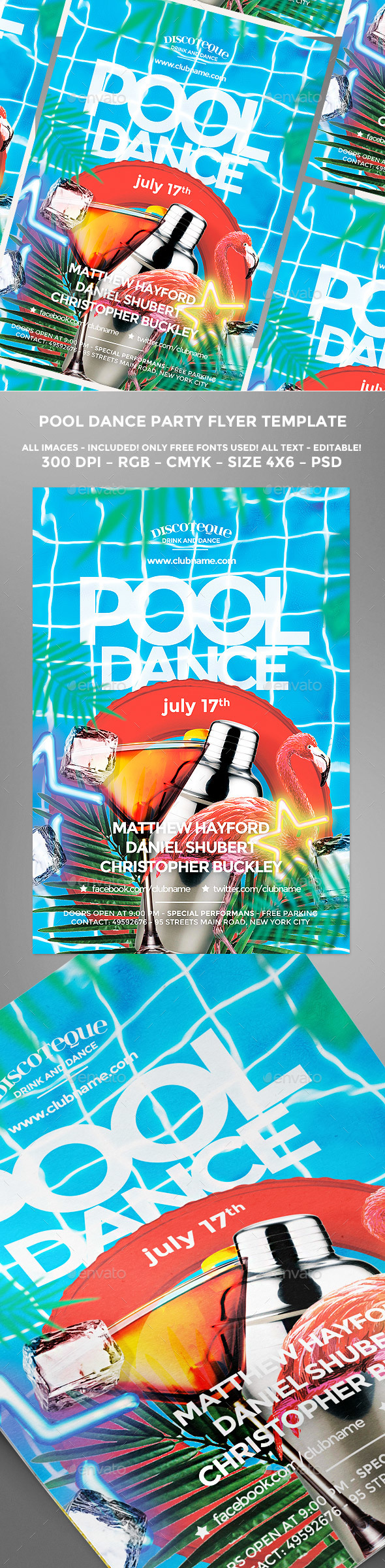 Summer Pool Flyer - Holidays Events