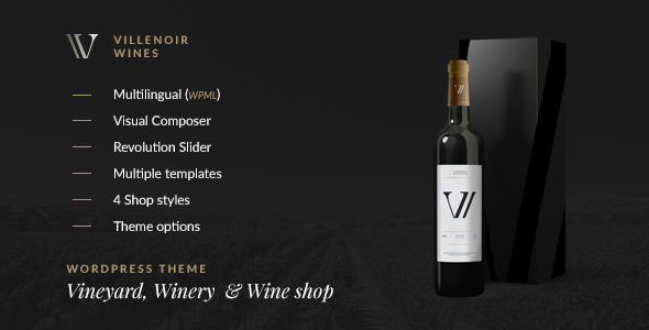 Villenoir - Vineyard, Winery & Wine Shop - Retail WordPress