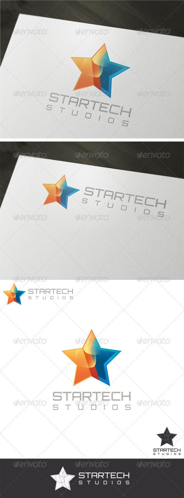 3D Startech Logo Template - Vector Abstract