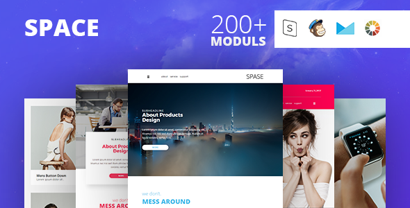 SPACE - Responsive Email Template Minimal - Email Templates Marketing