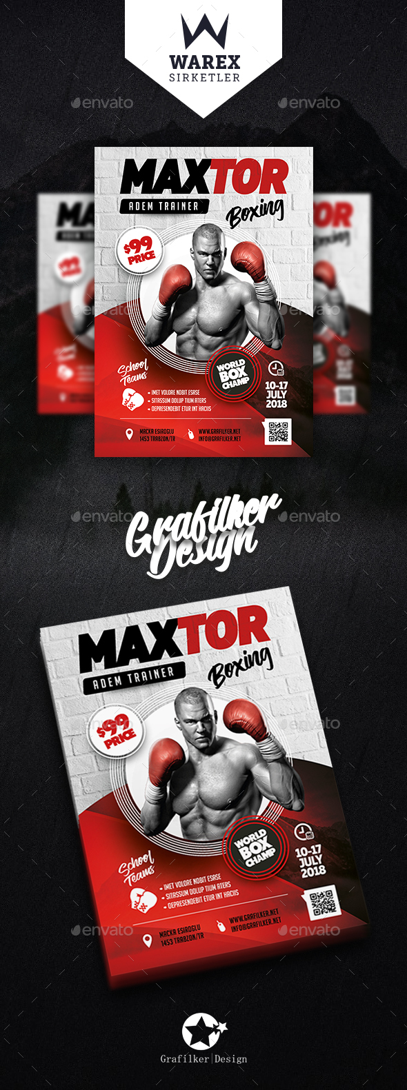 Boxing School Flyer Templates - Sports Events