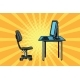 Computer Workstation and Chair - GraphicRiver Item for Sale