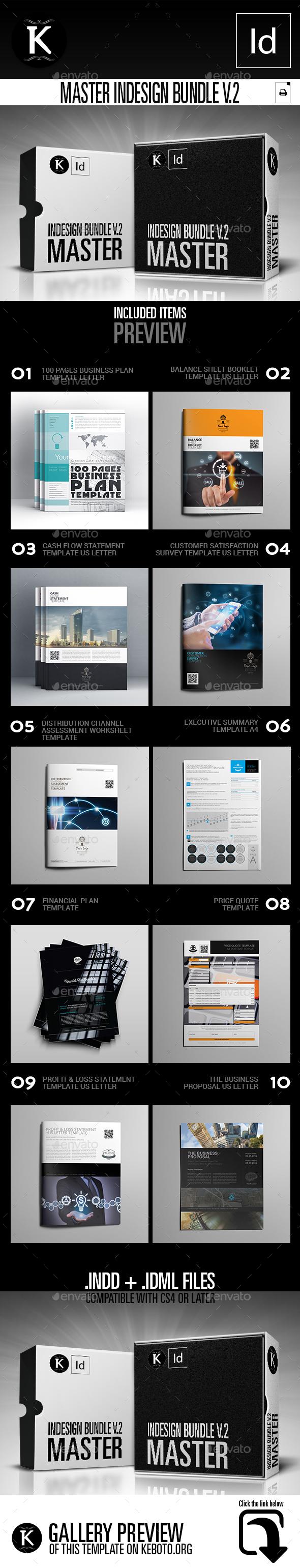 Master InDesign Bundle v.2 - Print Templates