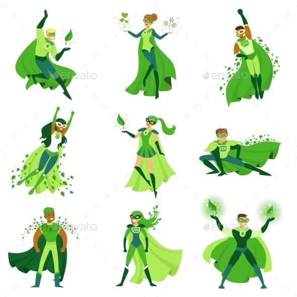 ECO Superhero Characters Set - Miscellaneous Characters
