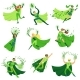 ECO Superhero Characters in Action Set - GraphicRiver Item for Sale
