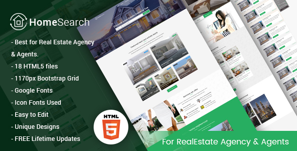 HomeSearch - A RealEstate HTML5 Template