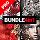 Blastum - 4in1 Photoshop Actions Bundle - GraphicRiver Item for Sale