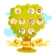 Family Tree with Portraits of Relatives - GraphicRiver Item for Sale