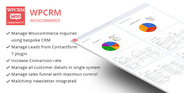 WPCRM - CRM for Contact form CF7 & WooCommerce - CodeCanyon Item for Sale