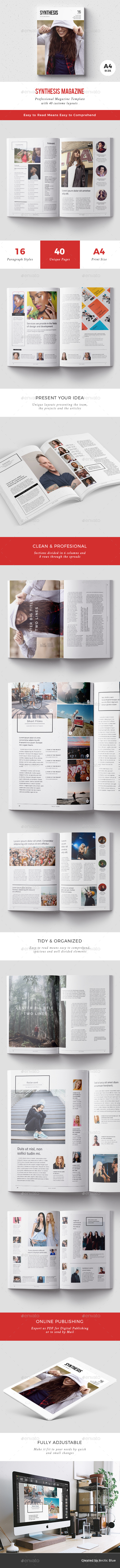 Synthesis Mag A4 - Magazines Print Templates