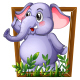 Wooden Frame Animals - GraphicRiver Item for Sale