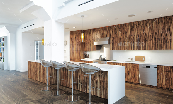 3d Render Living Room Interior - Architecture 3D Renders