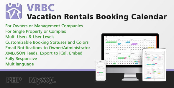 Vacation Rentals Booking Calendar - CodeCanyon Item for Sale