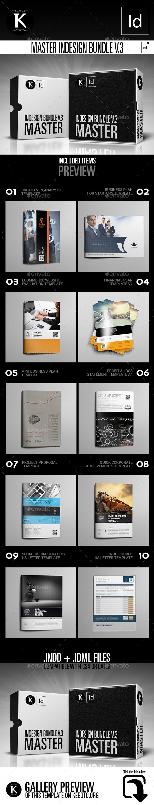Master inDesign Bundle v.3 - Print Templates