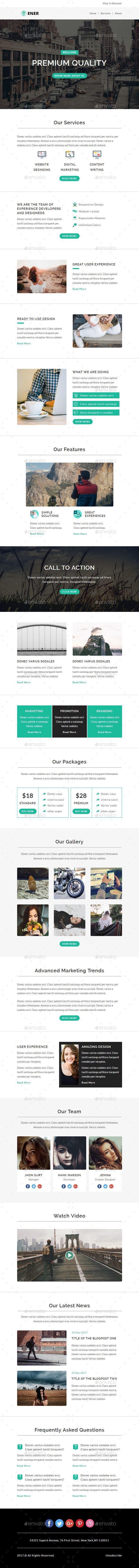 ENER - Multipurpose Email PSD Template - E-newsletters Web Elements