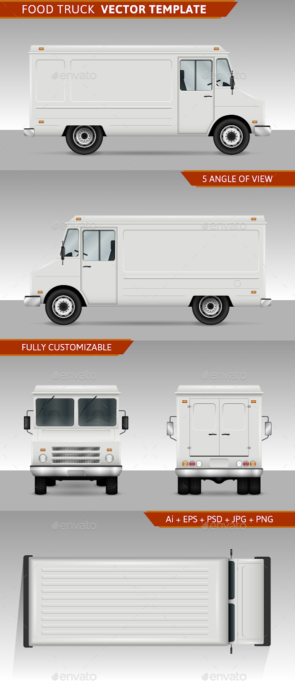 Food Truck Template - Man-made Objects Objects