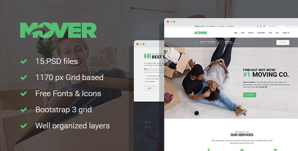 Mover - Moving/Delivery Company PSD Template