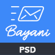 Bayani - E-newsletter PSD Template - GraphicRiver Item for Sale