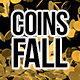 3D Gold Coins Fall