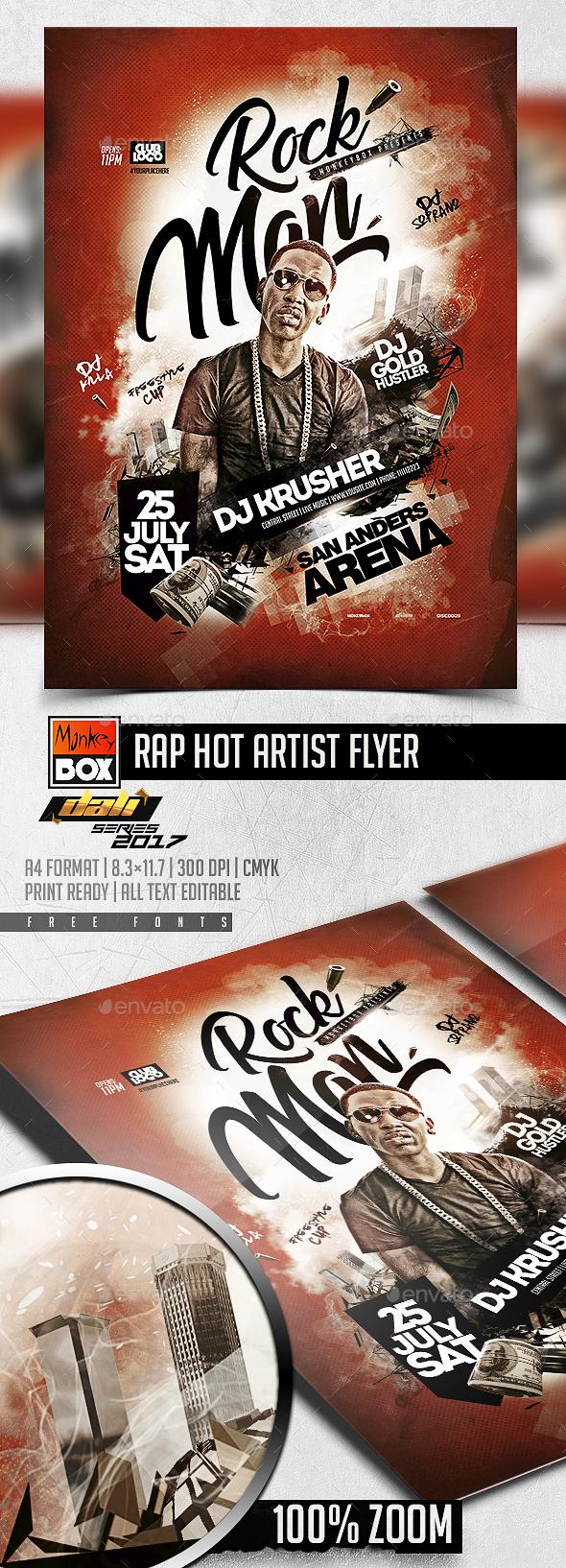 Rap Hot Artist Flyer - Events Flyers