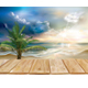Wooden Boards on the Sea Landscape - GraphicRiver Item for Sale