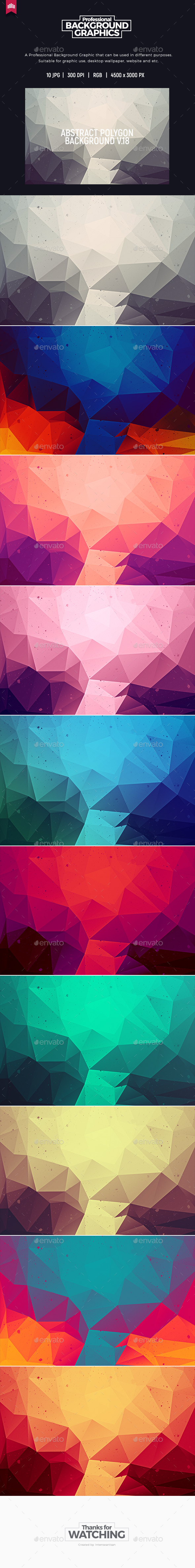 Abstract Polygon V.18 - Background