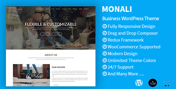 Monali - Business, Agency, Corporate WordPress Theme - Technology WordPress