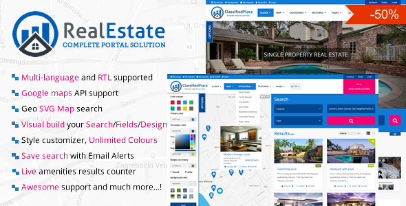 Real Estate Geo Portal (PHP Scripts) images