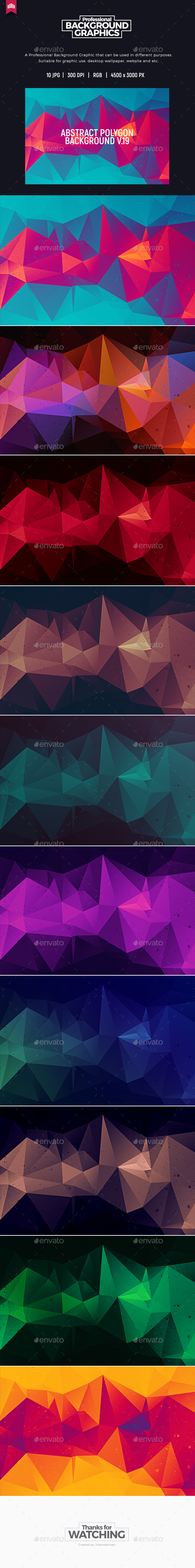Abstract Polygon V.19 - Background - Abstract Backgrounds