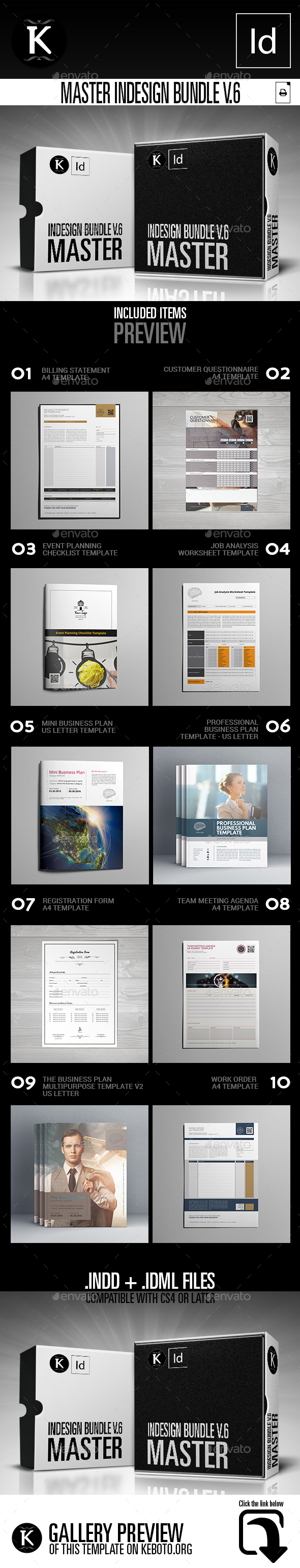 Master inDesign Bundle v.6 - Print Templates