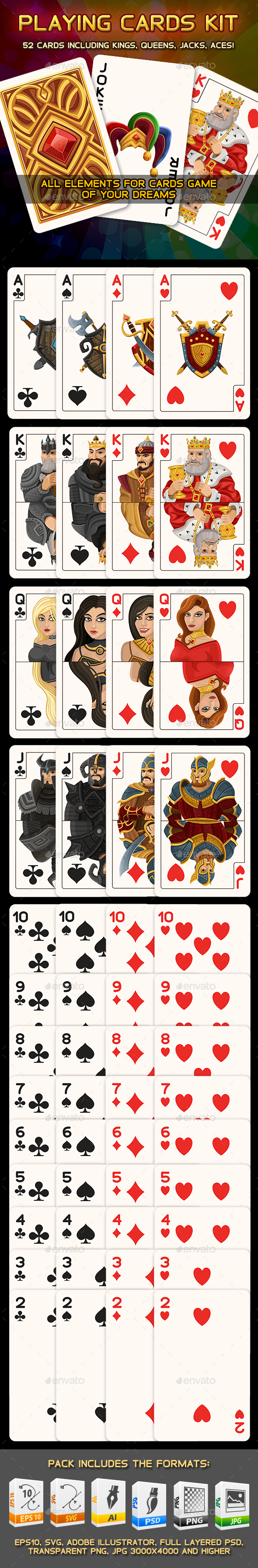 Playing Cards Kit - Game Kits Game Assets
