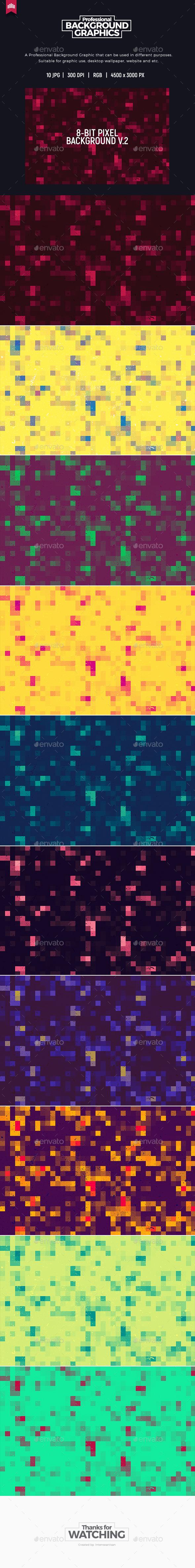 8-Bit Pixel Background V.2 - Tech / Futuristic Backgrounds