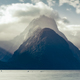 Milford sound peak at sunset in cold tones, New Zealand - PhotoDune Item for Sale