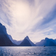 Landscape view of Milford Sound cliffs and mountains, New Zealand - PhotoDune Item for Sale