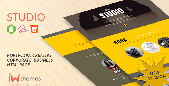Studio - Multipurpose Video, Slider Bg Theme