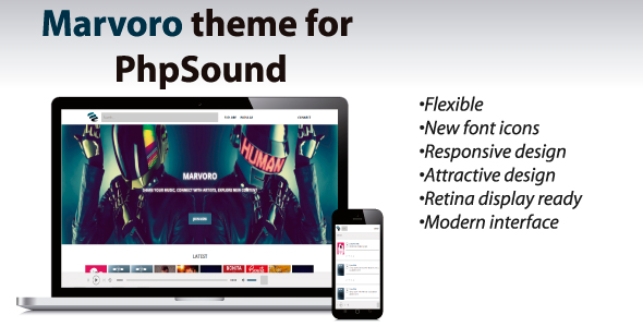 Marvoro Theme for phpSound Best Scripts