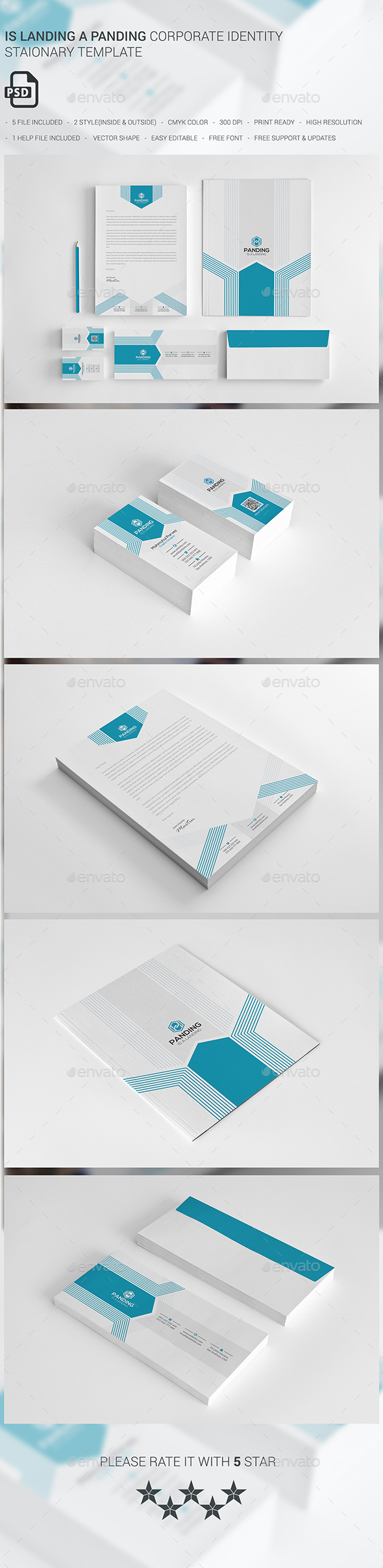 Is Landing A Panding - Stationery Print Templates