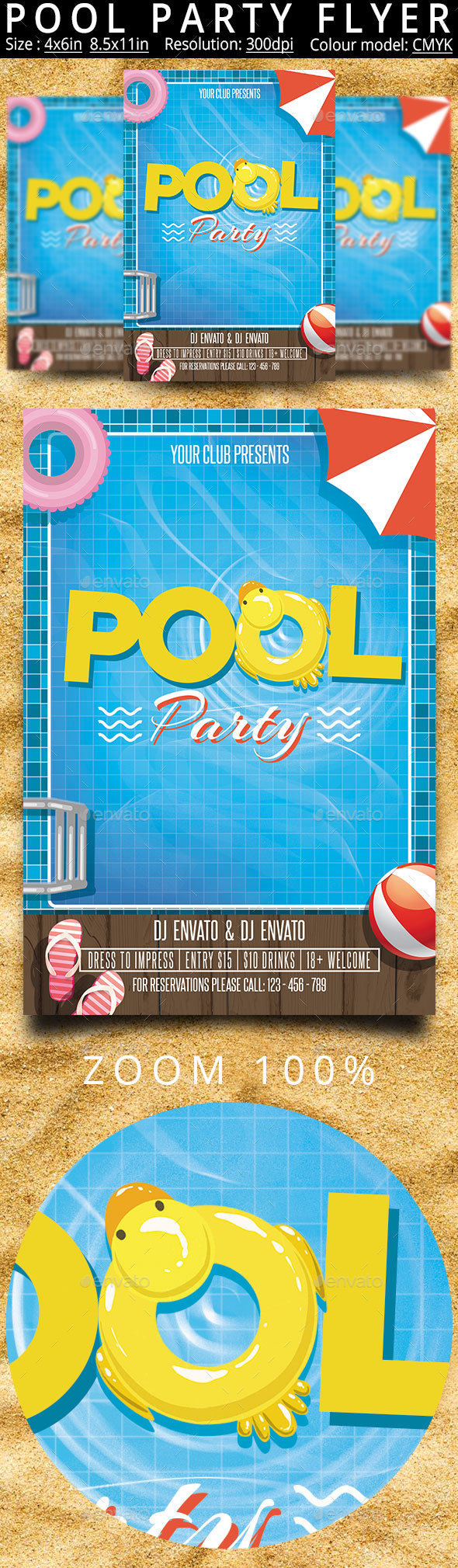 Pool Party Flyer Poster - Events Flyers