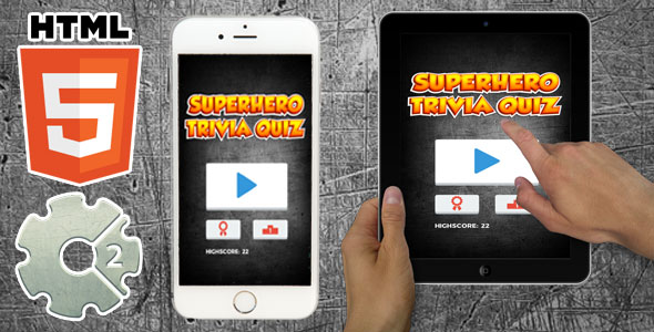 Superhero Trivia Quiz - HTML5 Casual Game - CodeCanyon Item for Sale